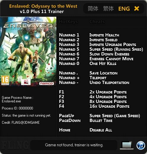 Enslaved Odyssey to the West trainer