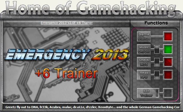Emergency 2013 v2.0f +6 Trainer [HoG]